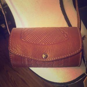 Leather crossbody Mini Rollbag, Patricia Nash